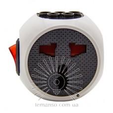 Переходник - адаптер Lemanso с кнопкой белый+серый/ LMA7304