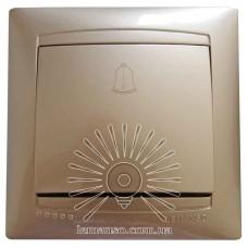 Кнопка звонка LEMANSO Сакура золото                       LMR1210