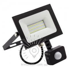 Прожектор LED 30w 6500K IP65 2400LM LEMANSO 175-265V с датчиком чёрный/ LMPS37