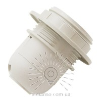 Patron Е27 plastic threaded with circle Lemanso white / LM2503