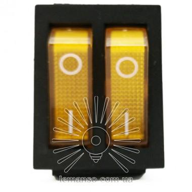 Переключатель  Lemanso  LSW04 двойной жёлтый с подсветкой / KCD2-2101N описание, отзывы, характеристики