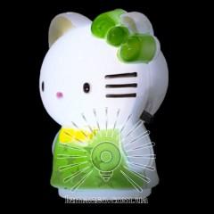 Ночник Lemanso Кошечка зелёный/ NL113