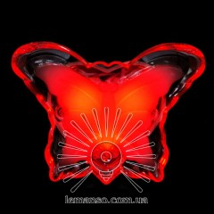 Ночник Lemanso Бабочка красный 3 LED / NL5