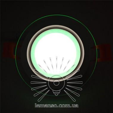 LED панель Сияние Lemanso 6W 450Lm 4500K + зеленый 85-265V / LM1036 круг + стекло описание, отзывы, характеристики