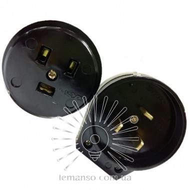 Вилка и гнездо для электроплит однофазное с заземл черн бакаклит Lemanso LMA316 описание, отзывы, характеристики