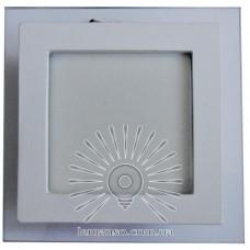 LED панель Lemanso 9W 360LM 4500K 85-265V квадрат / LM1034 + стекло Мо