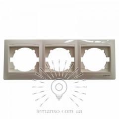 Рамка 3-я LEMANSO Сакура крем вертикальная LMR1133