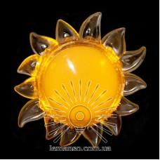 Ночник Lemanso Солнце жёлтый 4 LED / NL152