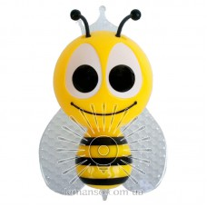 Night light Lemanso Bee 4 LED*RGB with sensor yellow / NL13
