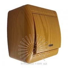 Выключатель накладной 1-й  + LED подсветка LEMANSO Магнолия ольха  LMR2109