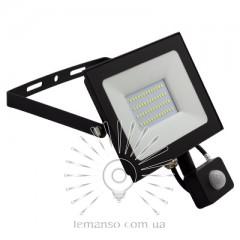 Прожектор LED 50w 6500K IP65 4000LM LEMANSO 175-265V с датчиком чёрный/ LMPS57