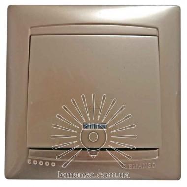 Выключатель 1-й проходной + LED подсветка LEMANSO Сакура золото LMR120 описание, отзывы, характеристики
