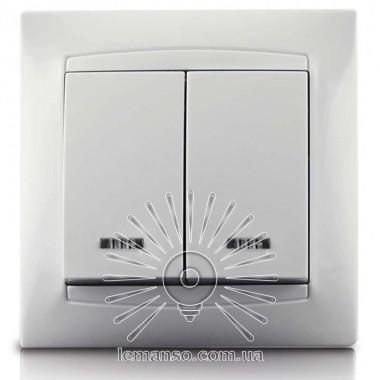 Выключатель 2-й + LED подсветка  LEMANSO Сакура белый   LMR1007 описание, отзывы, характеристики