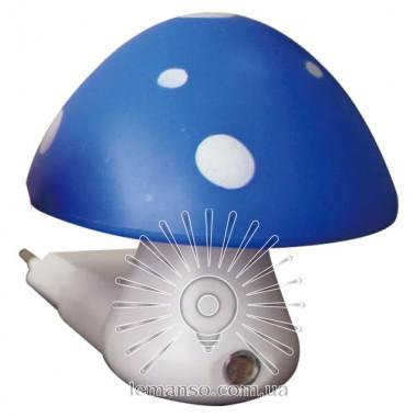 Ночник Lemanso Гриб 3 LED 6500K с сенсором синий / NL16 описание, отзывы, характеристики