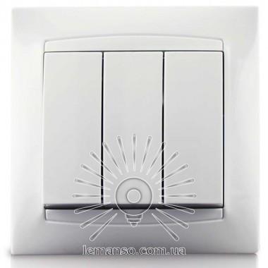 Выключатель 3-й LEMANSO Сакура белый LMR1008 описание, отзывы, характеристики