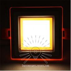 LED панель Сияние Lemanso 9W 720Lm 4500K + оранж. 85-265V / LM1039 квадрат + стекло