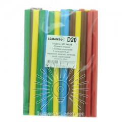 Стержни клеевые цветные Lemanso 11х200мм, упак.20шт.(цена за упак.) LTL14028