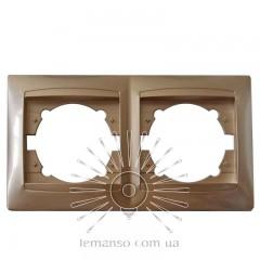 Рамка 2-я LEMANSO Сакура золото горизонтальна  LMR1211