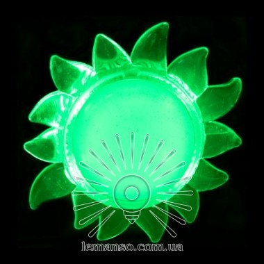 Ночник Lemanso Солнце зелёный 4 LED / NL8 описание, отзывы, характеристики