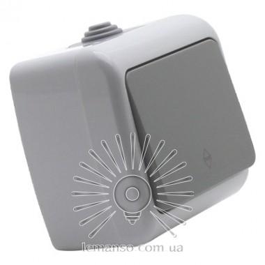 Выключатель накладной 1-й проходной LEMANSO Немо серый LMR2404 описание, отзывы, характеристики