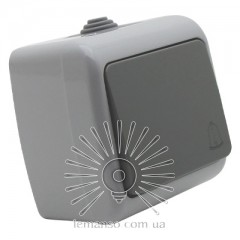 Кнопка звонка накладная LEMANSO Немо серая LMR2406