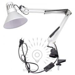 Настольная лампа Lemanso 20Вт, для лед ламп E27 LMN093 серебро