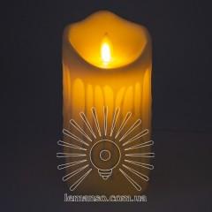 Свеча LED Lemanso 75*150мм 2700K 3xAAA (нет в компл.) IP20 / LM36003 (+пульт, еф. пламя)