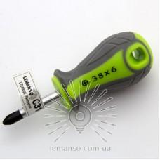 Отвертка LEMANSO PH6x38 LTL40006 серо-зелёная