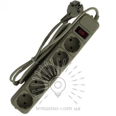 Удлинитель Lemanso с/з+кнопка 1,5м 5 гнезд / LMK058 + фильтр сетевой описание, отзывы, характеристики
