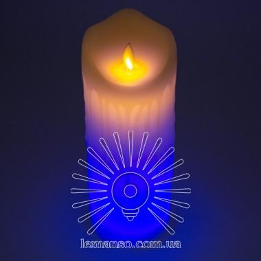 Свеча LED Lemanso 75*200мм RGB 3xAAA (нет в компл.) IP20 / LM36010 (+пульт, еф. пламя) описание, отзывы, характеристики