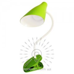 Н/лампа Lemanso 5W 320LM прищепка, 4 уровня регулировки зелёная/ LMN090