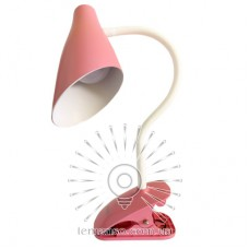 Н/лампа Lemanso 5W 320LM прищепка, 4 уровня регулировки розовая / LMN090