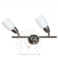 Спот Lemanso ST141-2 двойной E14 / 9W матовый хром