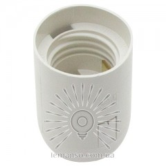 Патрон LEMANSO Е27 пластиковый / без резьбы / белый / LM2511 (LM107)