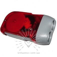Фонарик LEMANSO 2 LED красный / LMF41