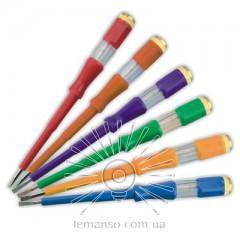 Отвертка  инд, напр, 100-500V LEMANSO 4.0x190мм LTL10073 / только кратное 30штукам(5* 6 цветов)