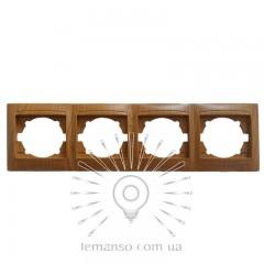 Рамка 4-я LEMANSO Сакура ольха горизонтальная  LMR1413