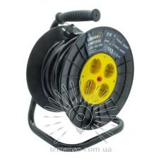 Удлинитель-катушка LMK72002 4 гнезда 20м 16A с/з Lemanso защита от перегрузки, макс нагр 800-3000Вт