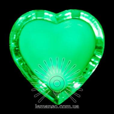 Ночник Lemanso Сердце зелёный 3 LED / NL4 описание, отзывы, характеристики