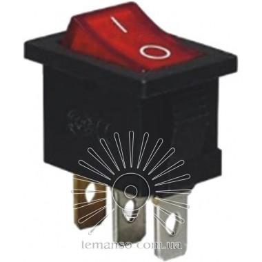 Переключатель  Lemanso  LSW05 малый красный с подсв. / KCD1-101-2 описание, отзывы, характеристики