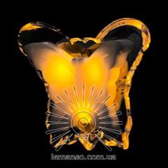 Ночник Lemanso Бабочка жёлтый 3 LED / NL5