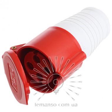 Гнездо переносное (ГП) Lemanso 32А 4п (3п+н) 380-415V IP44 красное / L описание, отзывы, характеристики