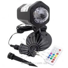Проектор LED Lemanso 6W RGBW IP65 100-240V+б/п с провод (5м)+пульт / LM36016, чёрный