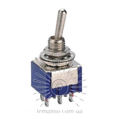 Тумблер Lemanso LSW29 6pin малый 2 полож. ON-ON / MTS-202 описание, отзывы, характеристики