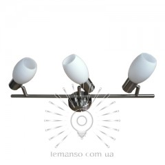 Спот Lemanso ST140-3 тройной E14 / 40W матовый хром