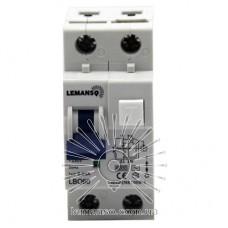 Диференційний автомат Lemanso 6.0KA 1п + н 32A 30mA RCBO LBO60