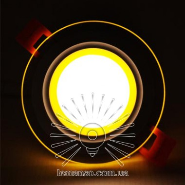 LED панель Сияние Lemanso 9W 720Lm 4500K + жёлтый 85-265V / LM1037 круг + стекло описание, отзывы, характеристики