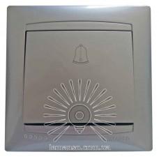 Кнопка звонка LEMANSO Сакура серебро                       LMR1310