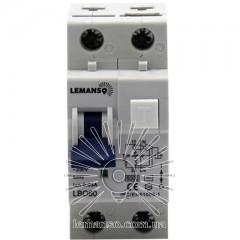 Дифферанциальный автомат Lemanso 6.0KA 1п+н 20A 30mA RCBO LBO60