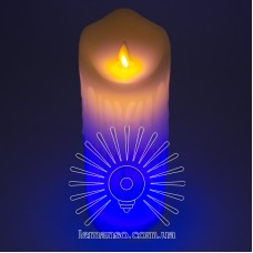 Свеча LED Lemanso 75*200мм RGB 3xAAA (нет в компл.) IP20 / LM36010 (+пульт, еф. пламя)